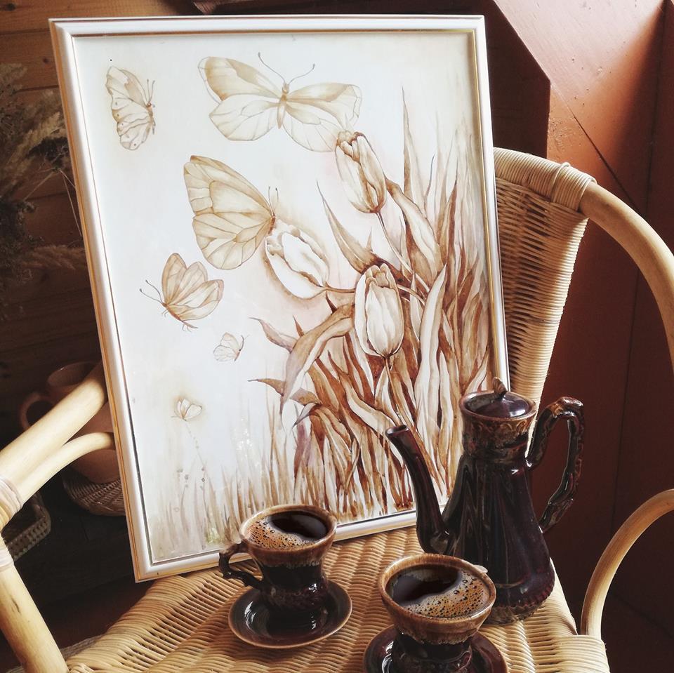 Рисунок с кофем, картинки