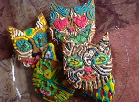 21 декабря, суббота, 13.00 - 15.00    Мастер-класс по росписи имбирного печенья