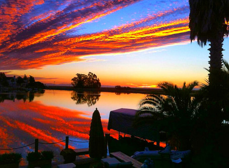 Incredible Sunrise picture over choctawhatchee Bay