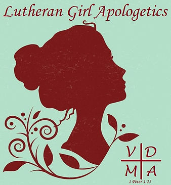 Lutheran Girl Apologetics Logo with vers