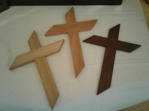 Handmade Wooden Wall Cross (Black Cherry)