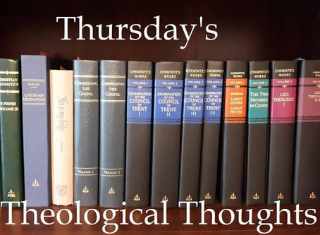 Thursday's Theological Thoughts:  From Ordinary to Extraordinary