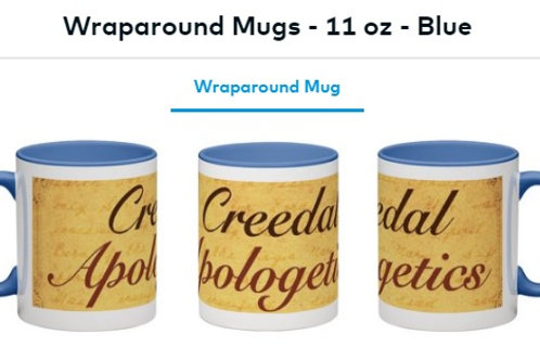 Wraparound Mug (Blue inside) Creedal Apologetics