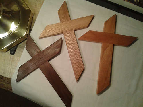 Handmade Wooden Wall Cross (Walnut)