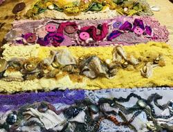 Textile jewellery - personal stitching.