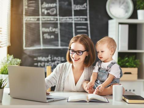 A maternidade é um gatilho para a mulher empreender.