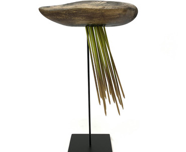 """untitled ascension series, wood and mixed media, 9x4x13"""""""