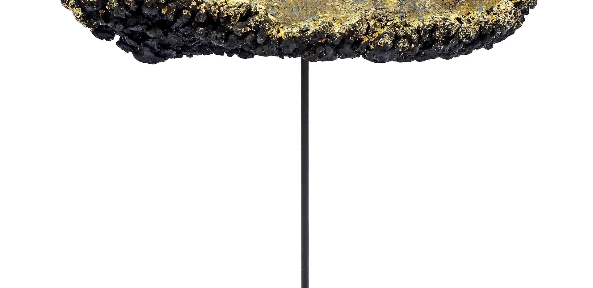 """untitled ascension series, encaustic wax, oil paint, gold leaf over wood armature, 11x5x9"""""""