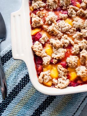 Carrés aux fraises et à la mangue