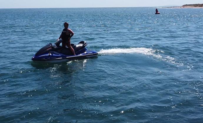 Yamaha Waverunner in the Water