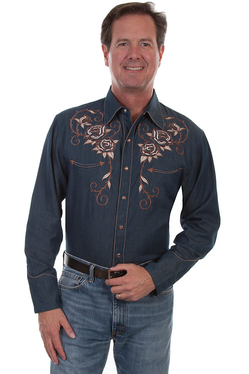 Scully Rose Embroidered shirt