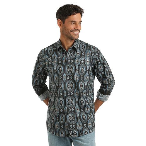 Wrangler® Rock 47® Shirt Black/Blue
