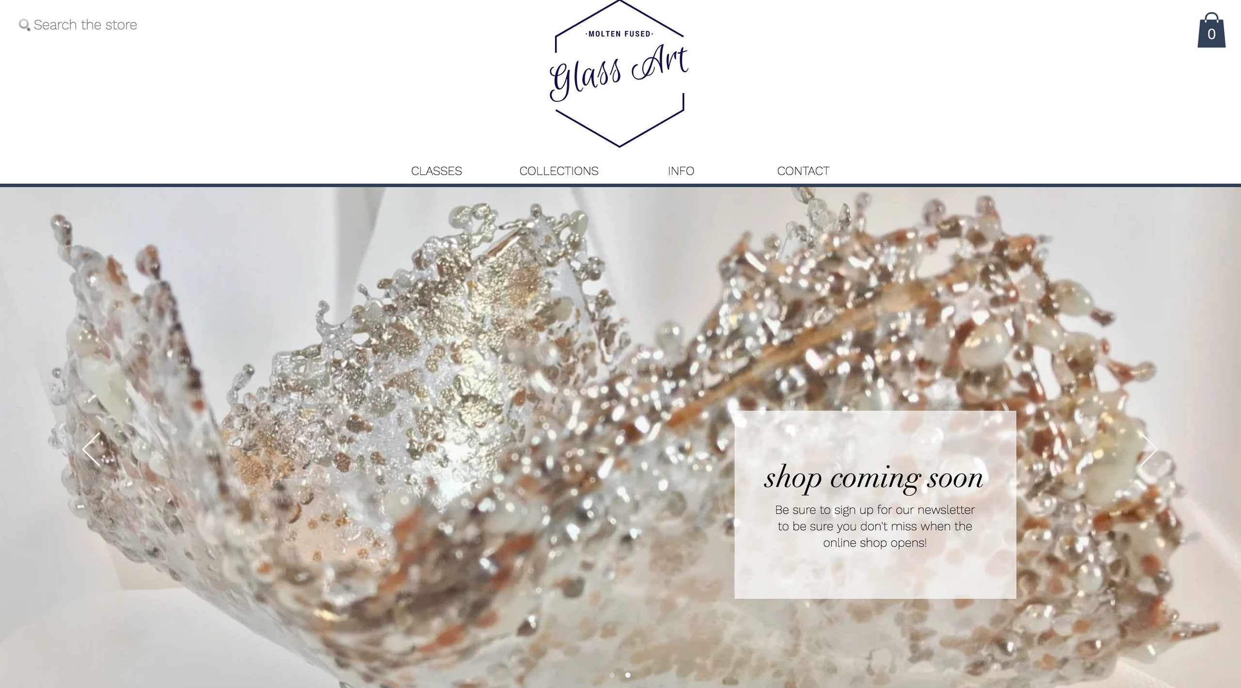 Molten Fused Glass Art Website Design