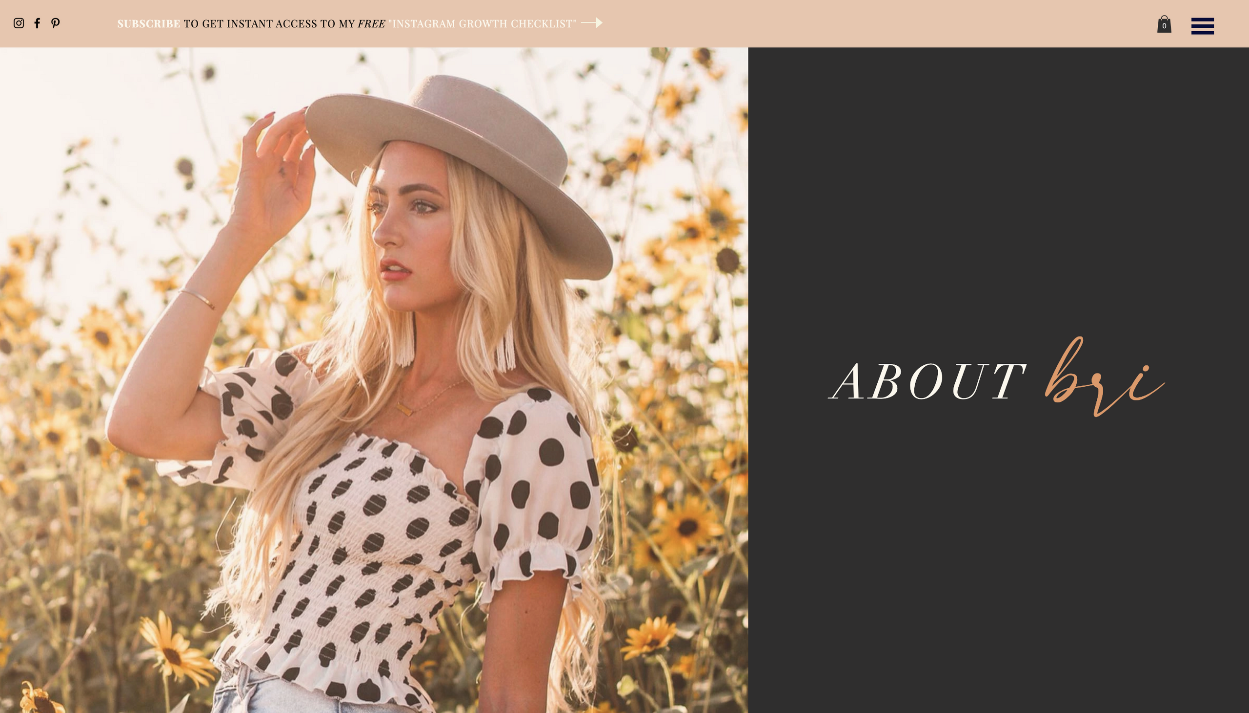 Beautiful Custom Fashion Blog Design - SLC, UT