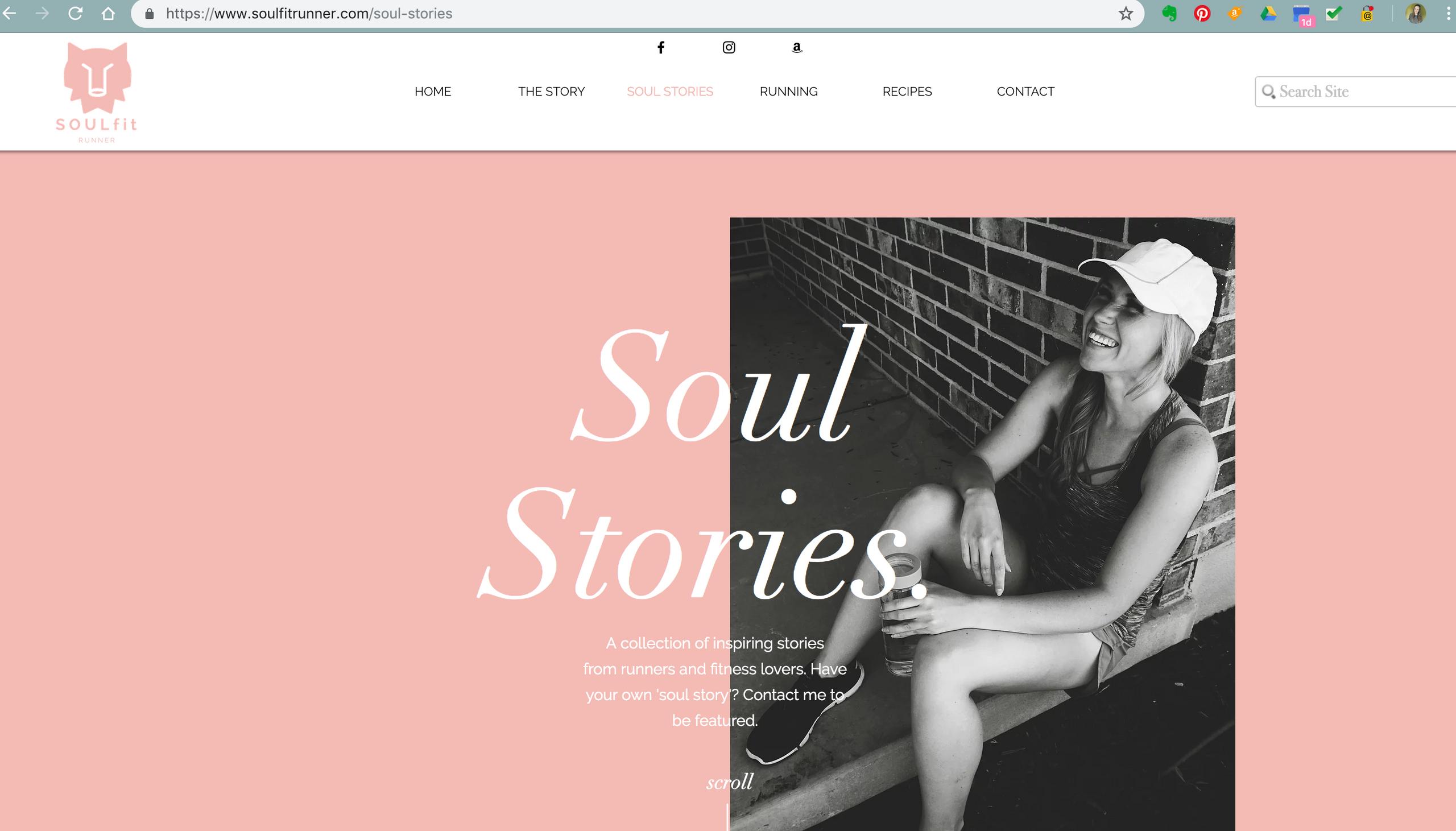 SOULfitRUNNER Website Design