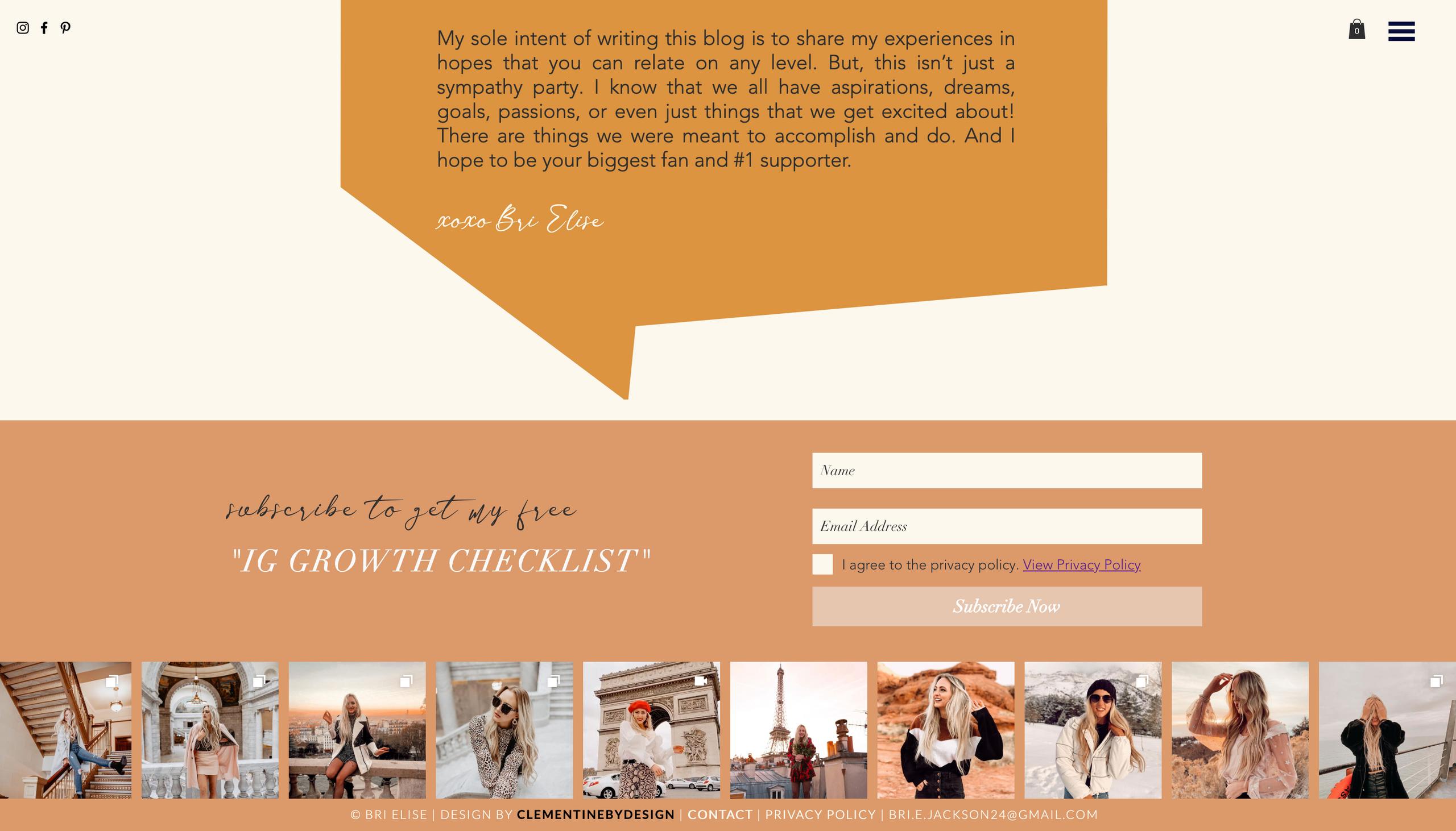custom footer blog design