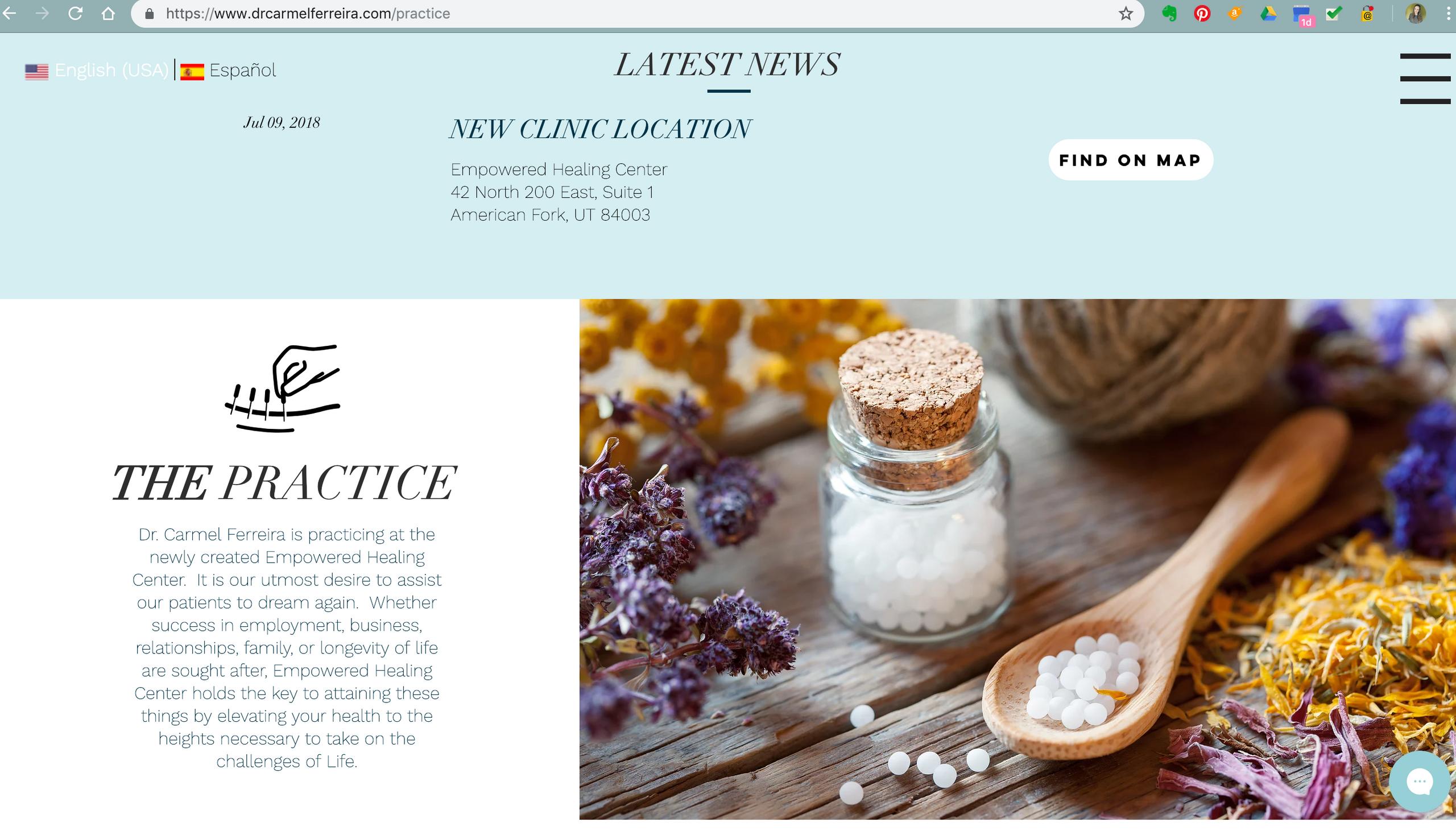 Empowered Healing Center Website Design