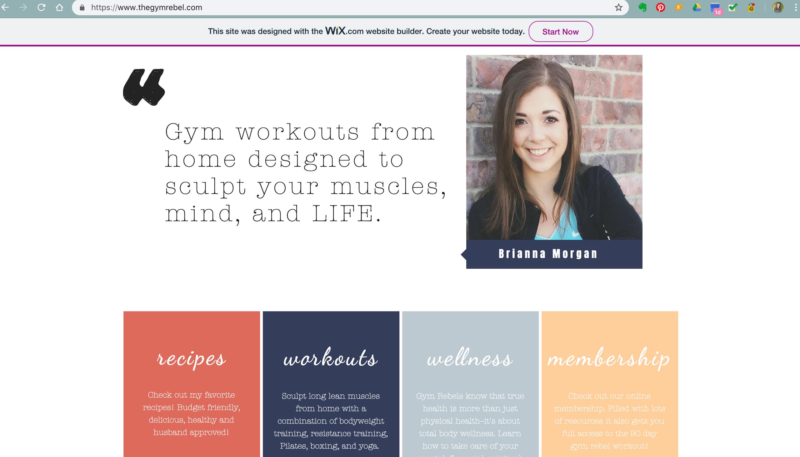 The Gym Rebel Website Design