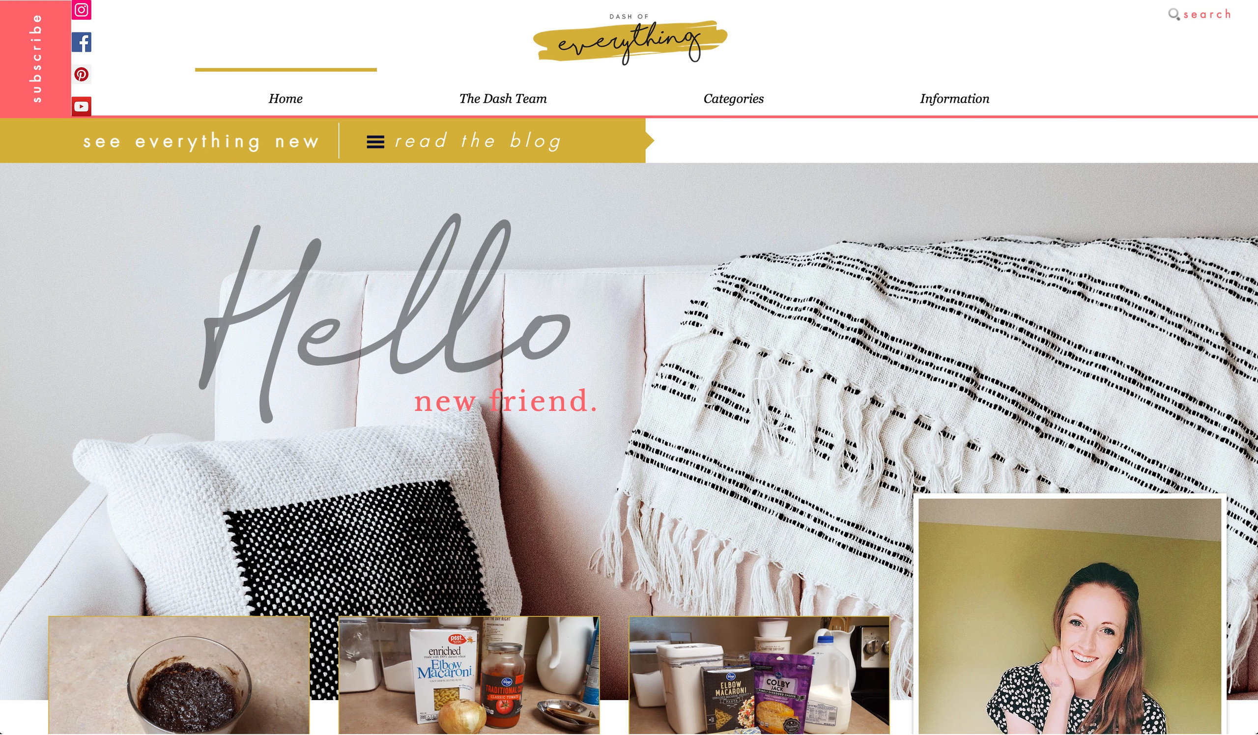 Dash of Everything Blog Design