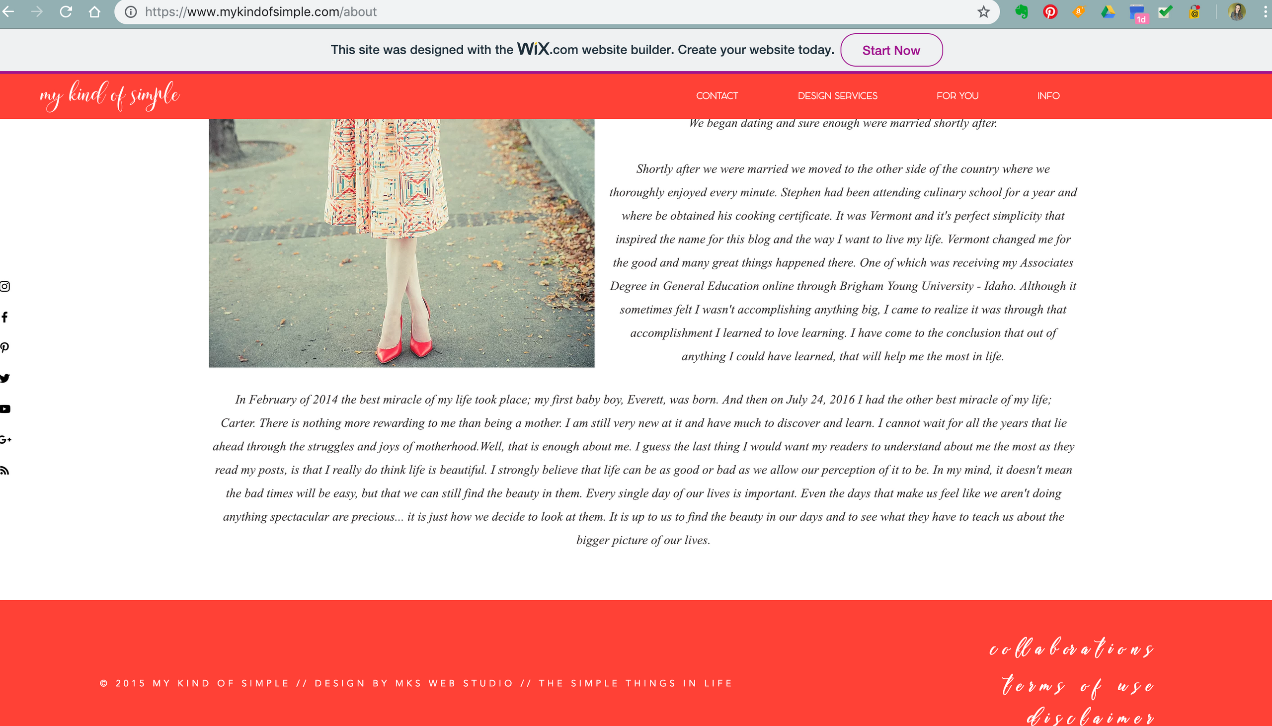 My Kind of Simple Blog Design