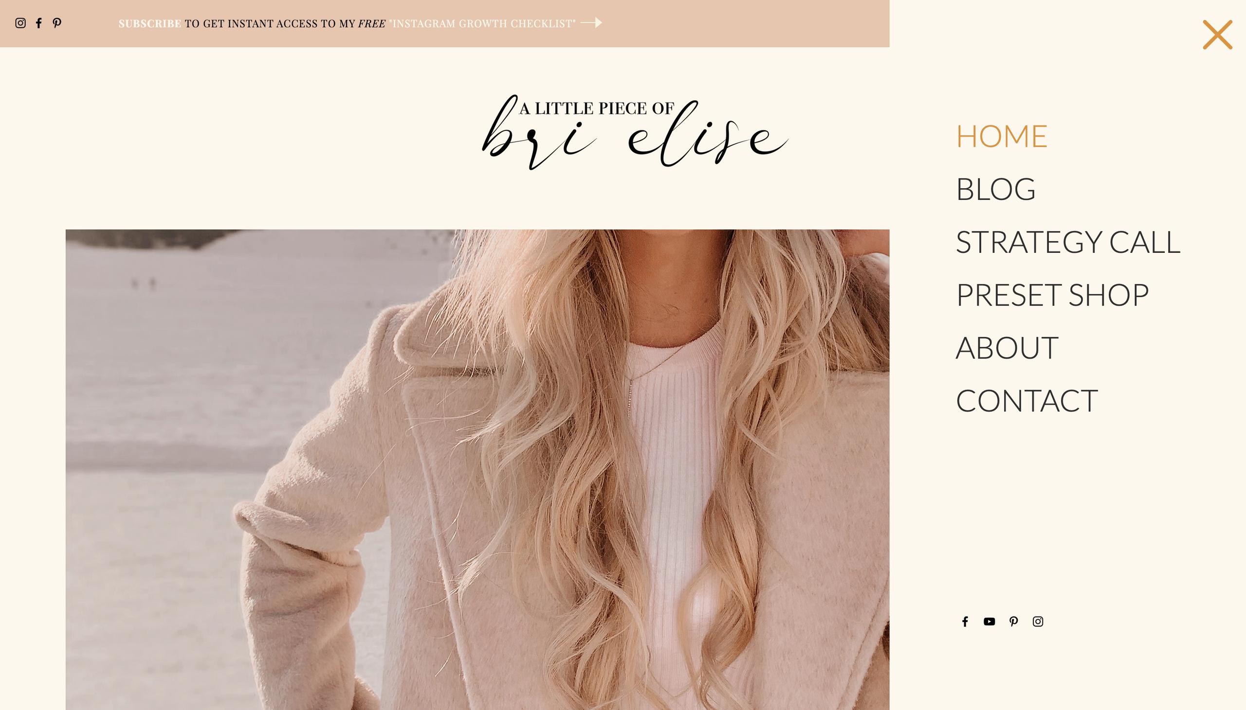 custom site menu