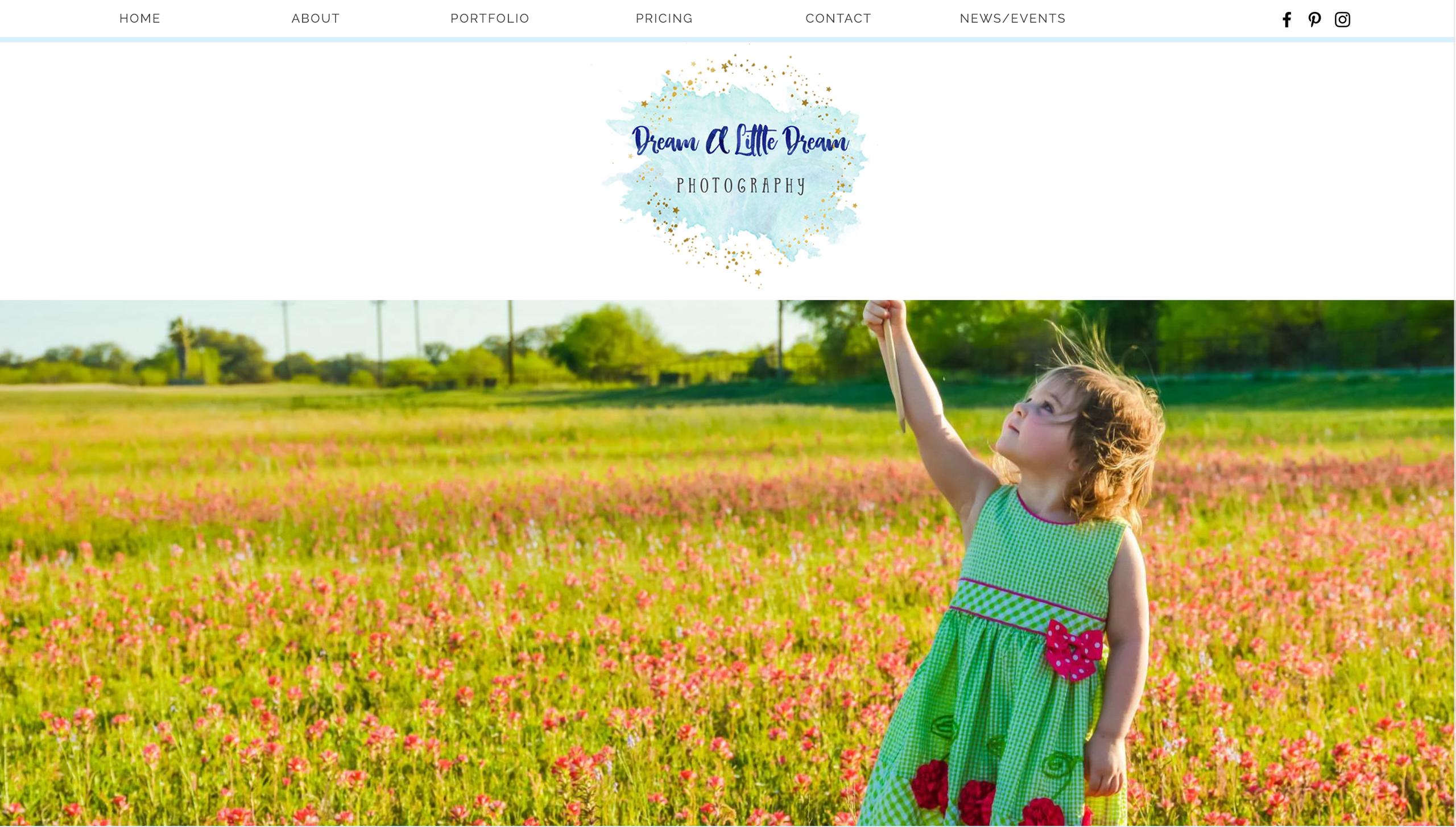 Dream a Little Dream Photography Website Design