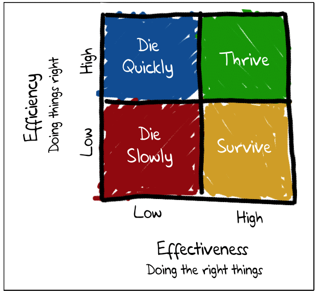 Efficiency vs Effectiveness