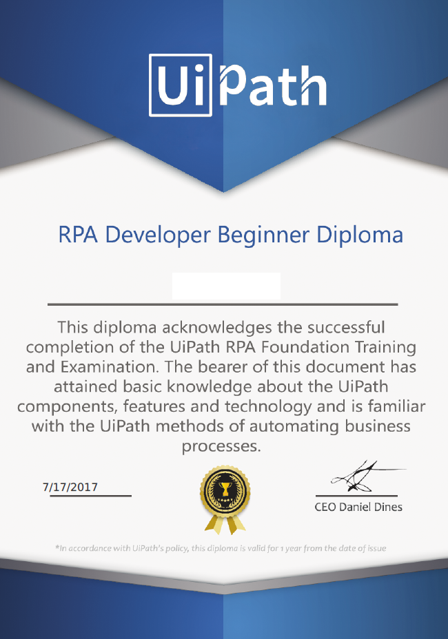 CFB Bots | RPA Developer Beginner Diploma