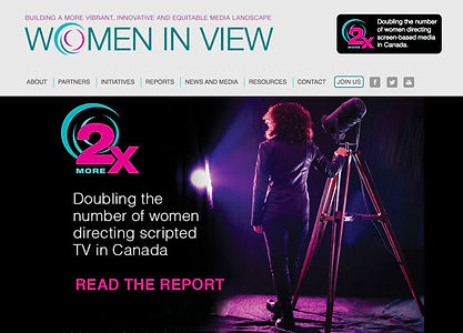 Women in View website design