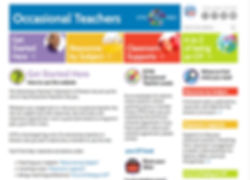 ETFO Occasional Teachers website design