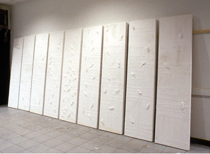 The white panels, plaster of paris bandages