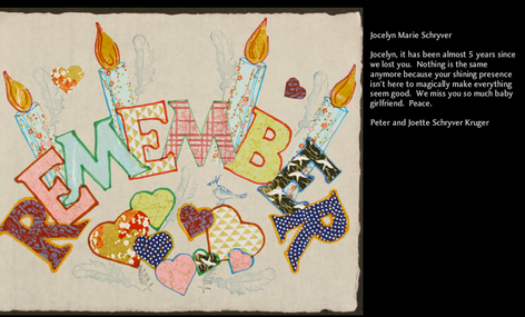 Artwork and memorial on website