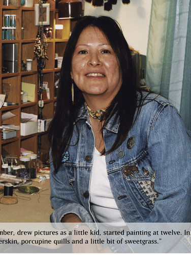 Sharon Kiyoshk-Burritt with her jewelry business