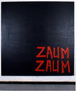 Zaum Zaum, oil on canvas, 6'x6'