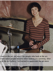 Kathleen Trumbley with her drums