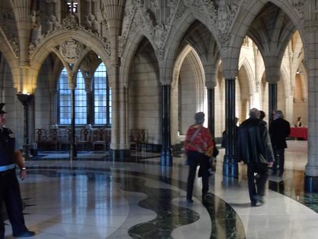 Installation in Parliament, Ottawa