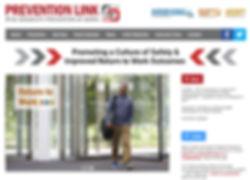 Prevention Link website design