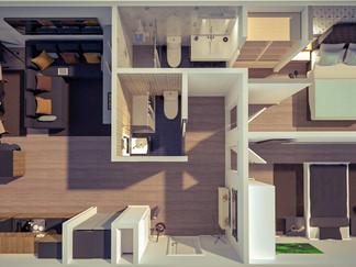 design arquitetura planta 3D