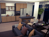 Cozinha e sala openspace remodelação arquitetura
