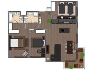 Planta 2D | Apartamento T3