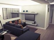 Sala e cozinha openspace remodelação arquitetura