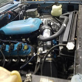 A super cool patina c10 we did a ls swap