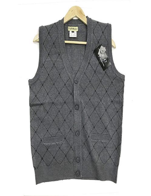 Men Knitting Winter Vest Style 3