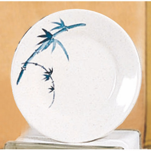 Round Plate, Blue Bamboo