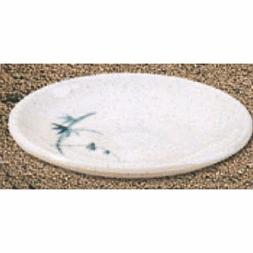 10cm , Blue Bamboo Sauce Plate