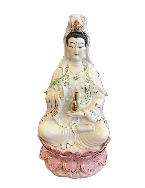 18'' White Guan Yin Buddha