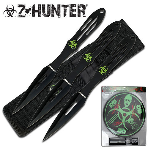 "9"" Overall Throwing Knife Set"