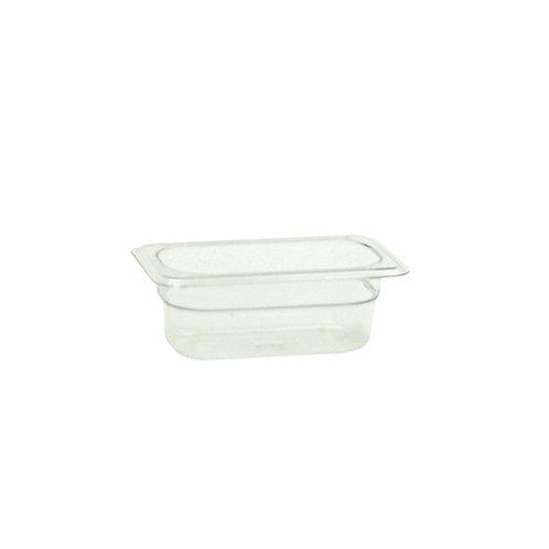 "Ninth Size 2 1/2"" , Deep Polycarbonate Food Pan"