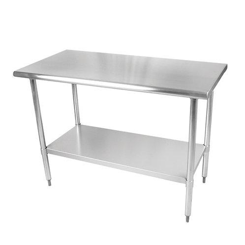 "24"" X 48"" X 35 , 430 Stainless Steel Worktable, Flat Top"