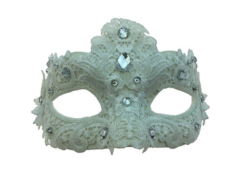 Venetian Eye Mask White